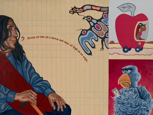 "America Meredith (Cherokee Nation of Oklahoma, b. 1972), ""Benediction: John Fire Lame Deer"","