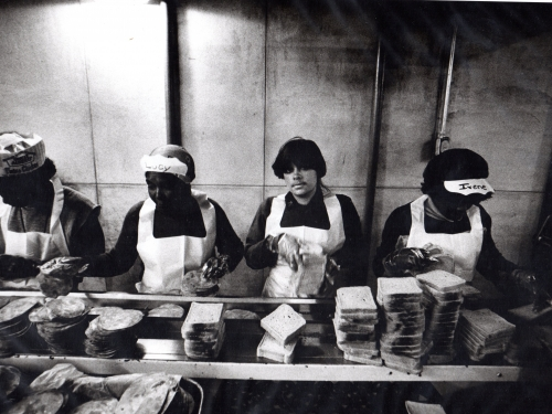 Women making sandwiches