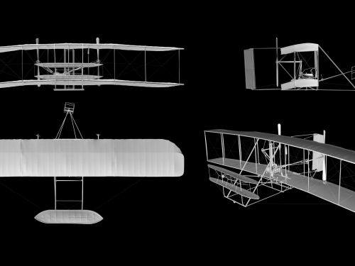 Wright Flyer in 3-D
