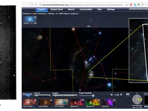 composite of photos of Orion