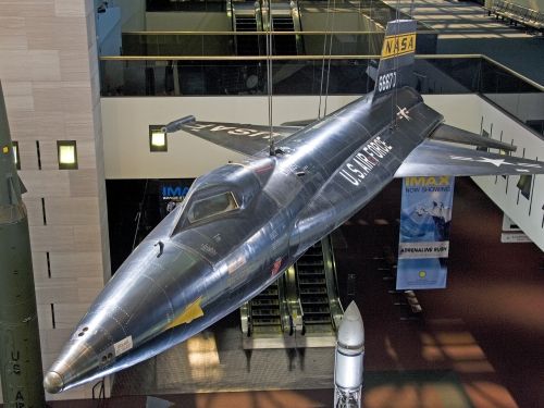 Aircraft on display in Milestones Hall