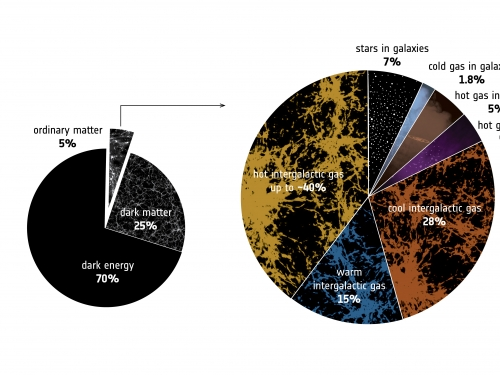 Chart representing components of our cosmos