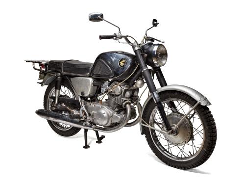 1966 Honda motorcycle.