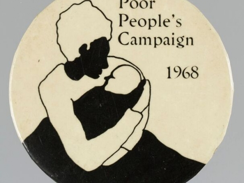 Button advertising Poor People's campaing