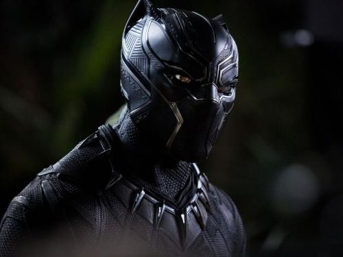 Digital film still of Chadwick Boseman in the Black Panther film