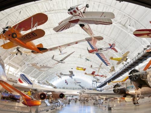 The Boeing Aviation Hangar at the Udvar-Hazy Center in Chantilly, VA.