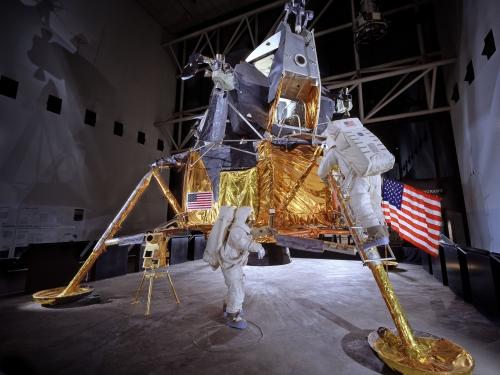 Apollo Lunar Module on display