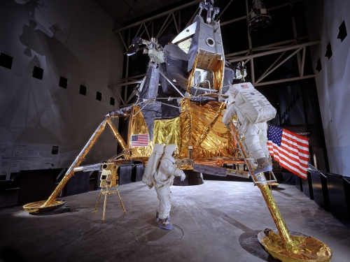 Apollo Lunar Module on display