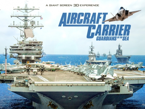 Movie poster with aircraft carrier