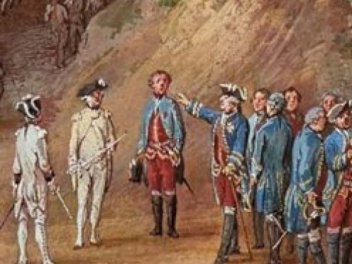 detail from painting of Battle of Yorktown