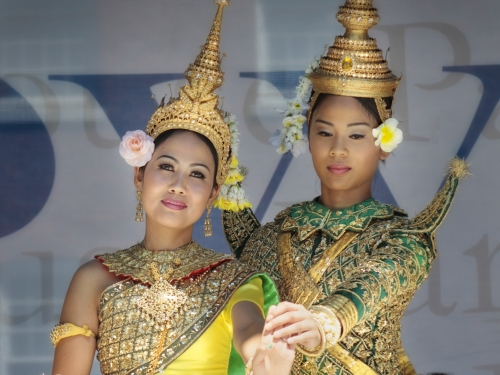 members of the Angkor dance troupe