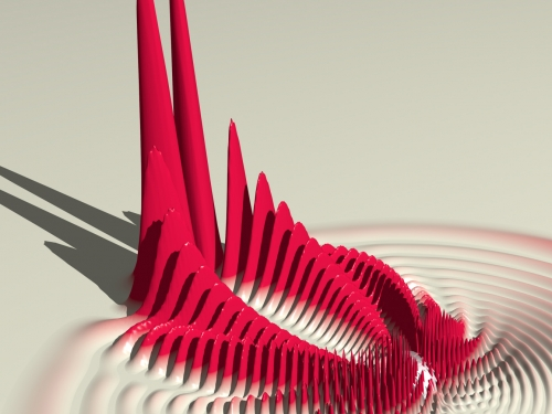 Artist rendering of Rydberg molecule