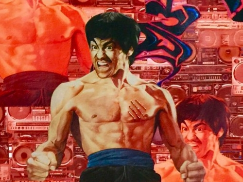Colorful painting of Bruce Lee