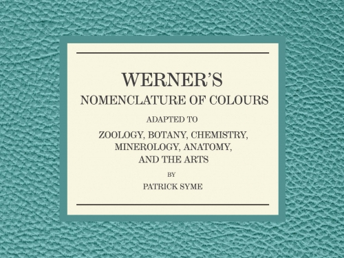 Werner's Nomenclature book cover