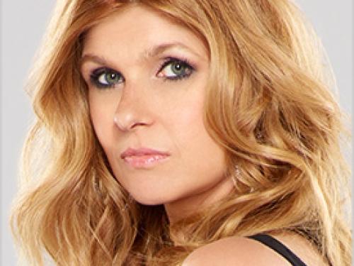 Headshot of blonde actress
