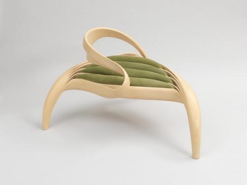 sculptural looking chair