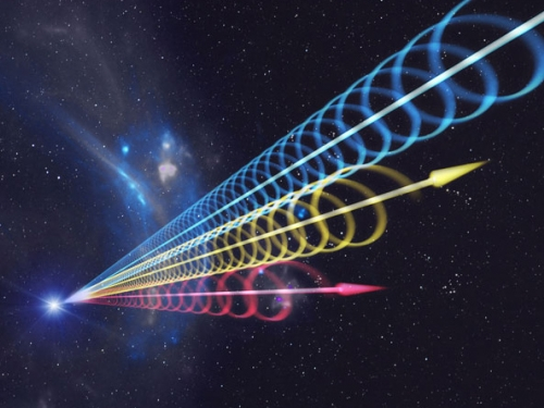 Artists rendering of radio waves