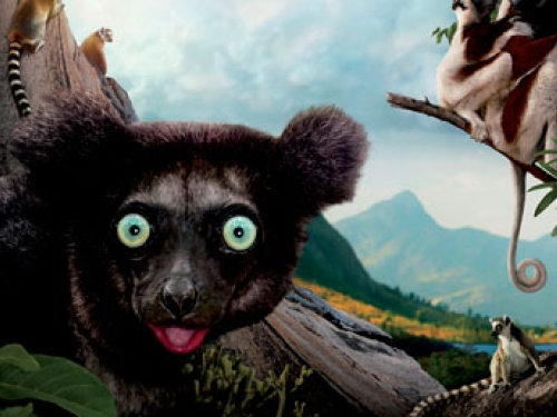 detail from Island of Lemurs poster