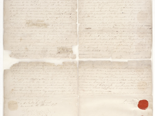 Handwritten treaty
