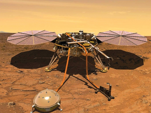 Artists rendering of Mars lander
