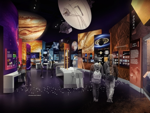 Artist's rendering of Exploring the Planets Gallery