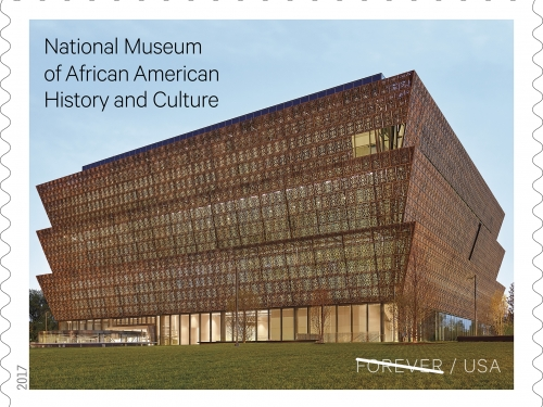 Forever stamp featuring African American Museum