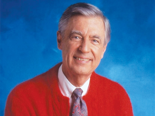 Fred Rogers in red sweater
