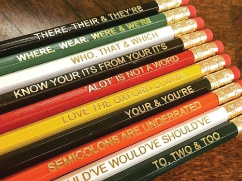 Pencils for Grammatical Gaffes