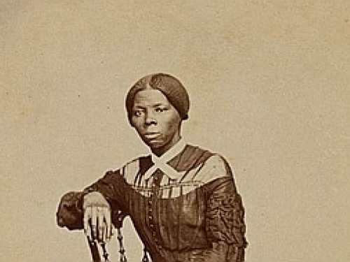 Visiting card showing young Harriet Tubman