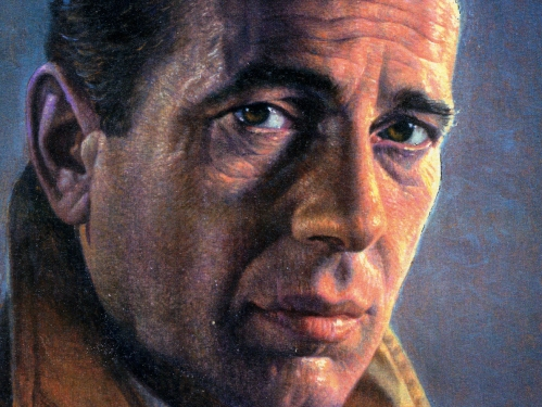 Humphrey Bogart Portrait Stamp