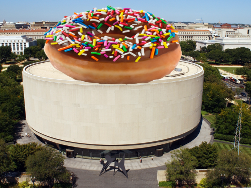 Hirshhorn with a donut on top