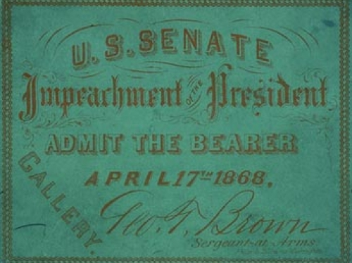 ticket to Andrew Johnson impeachment