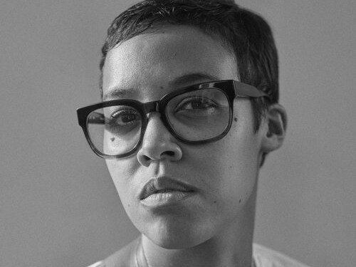 Black and white  headshot of Jordan Casteel