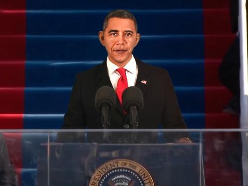 Animated image of Barack Obama at podium