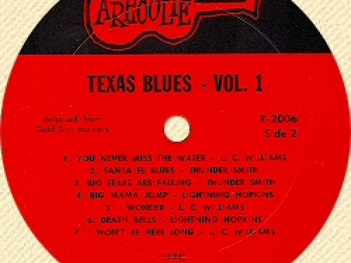 Texas Blues 45 recording by Arhollie Recrods