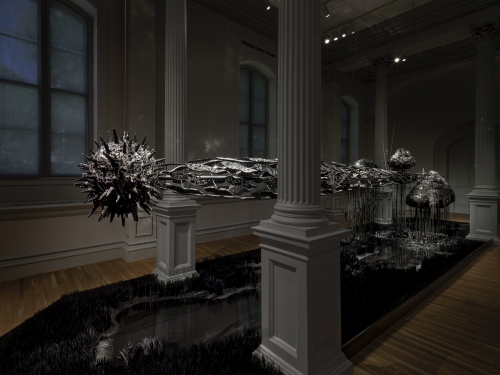 Installation view of sculpture by Lauren Fensterstock