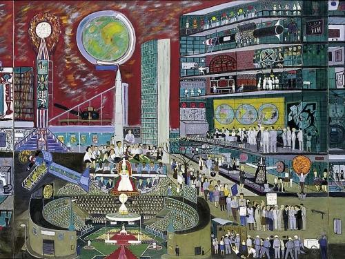 Modern Times by Raply Fasanella 1966