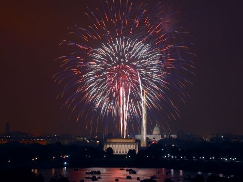 Fireworks over the National Mall