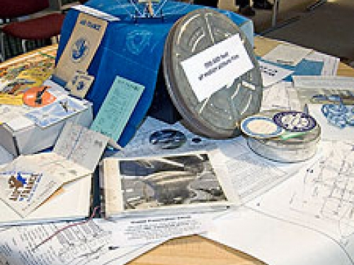 Temporary display of items from the collections, NASM Archives Oct. 2008