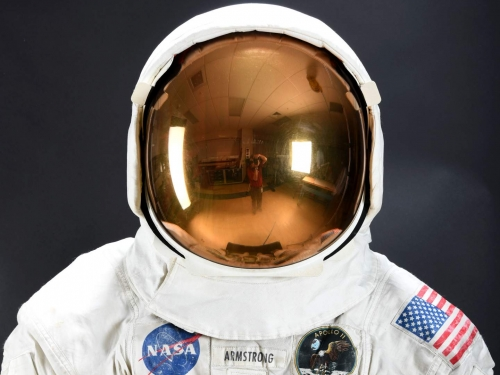 lunar spacesuit worn by Neil Armstrong on Apollo 11 mission