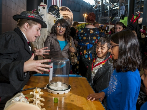 Visitors learn about science at Air & Scare.
