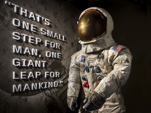 Armstrong's Apollo 11 Space Suit on Display