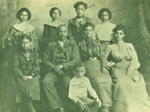 Group photo of African American photo from 19th century