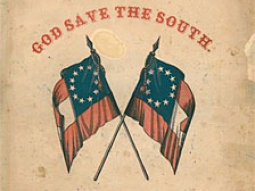 flags with statement God save the South.