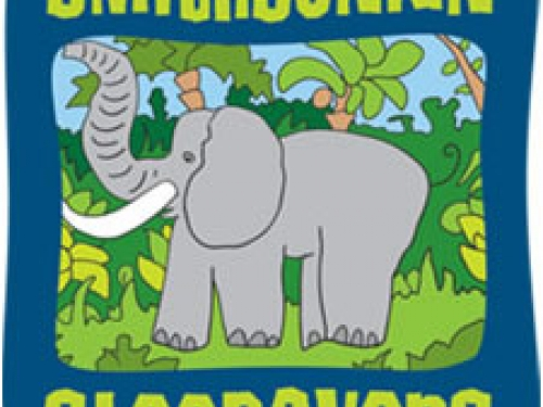 Cartoon logo featuring elephant