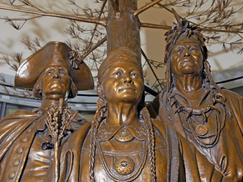 """Photo of """"Allies in War, Partners in Peace"""" sculpture"""