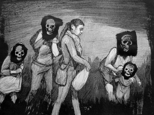 "black and white portrait ""A Portrait of Berenice Sarmiento Chávez"""