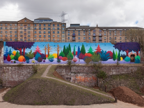 Colorful mural by Nicholas Party