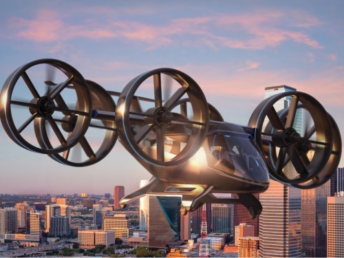 Rendering of air taxi