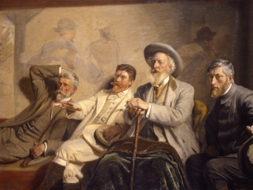 painting of four men